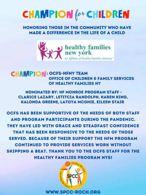 Champions for Children - OCFS-HFNY