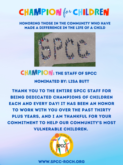 Champions for Children - SPCC staff