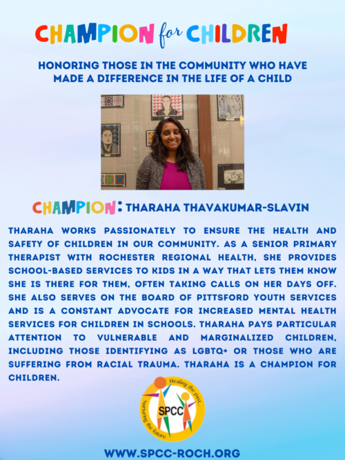Champions for Children - Tharaha Thavakumar-Slavin