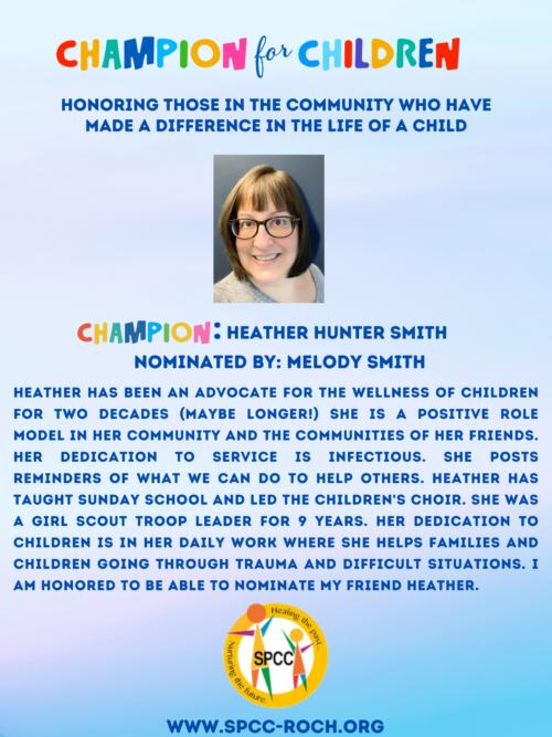 Champions for Children - Heather Smith