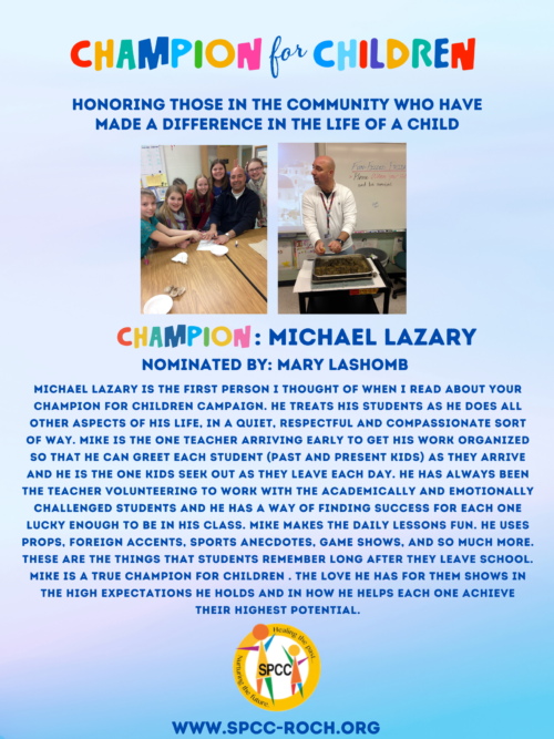Champions for Children - Mike Lazary