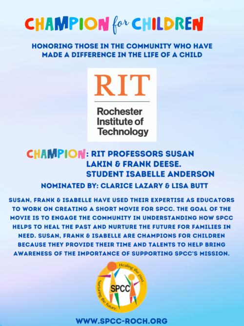 Champions for Children - RIT