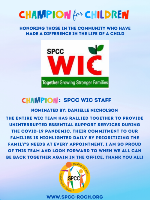 Champions for Children - WIC